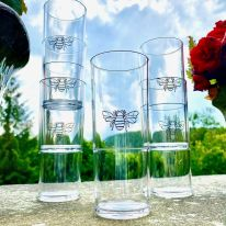 A Set of 6 Stackable Bee 12 oz Highballs