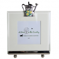 Enamel Watering Can Square Frame