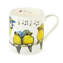 "A Carton of ""I Love Blue Tits"" Fine Bone China Mugs"