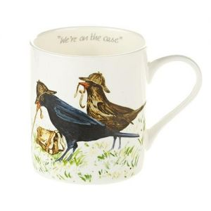 "At Home in the Country - A Carton of ""We're on the Case"" Fine Bone China Mugs"