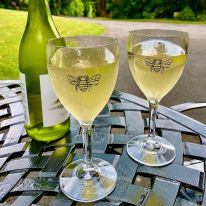 A Pair of Bee 11 oz Wine Glasses