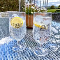 A Pair of Bee 15 oz Gin/ Pimms/ Beer Goblets