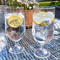 A Pair of Horse Head 15 oz Gin/ Pimms/ Beer Goblets