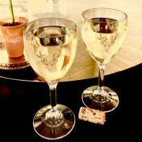 A Pair of Stag 11 oz Wine Glasses