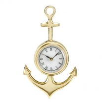 Anchor Brass Finish Wall Clock