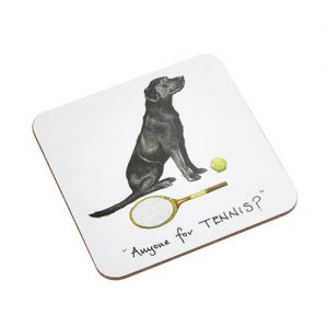 """At Home in the Country - """"Anyone for Tennis?"""" Coaster"""