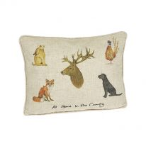At Home In The Country Linen Mix Cushion