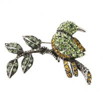 Bird on Branch Brooch