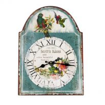 Birds Clock with Roman Numerals