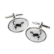 Black and White Cat Cufflinks