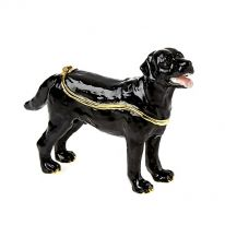 Black Labrador Enamel Box