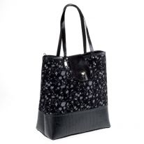 Black Patterned Handbag