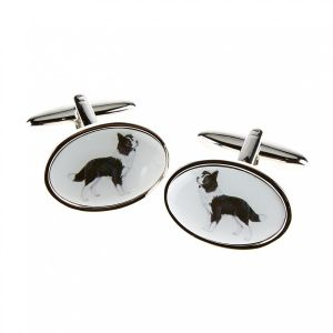 At Home in the Country - Border Collie Cufflinks