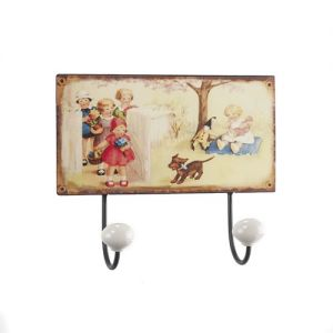 At Home in the Country - Boxed Pair of Childrens Wall Hooks