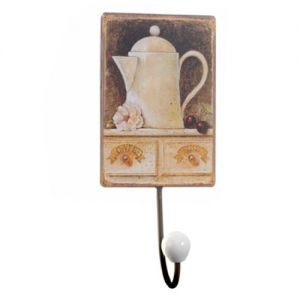 At Home in the Country - Boxed Pair of Coffee Pot Wall Hooks