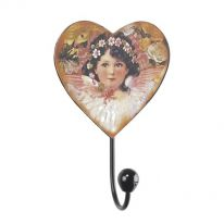 Boxed Pair of Little Girl Heart Wall Hook
