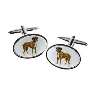 At Home in the Country - Boxer Cufflinks