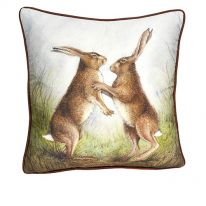 Boxing Hares Cushion