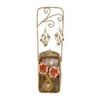 Brown Purse Jewellery Stand
