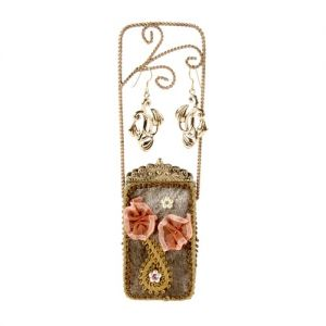 At Home in the Country - Brown Purse Jewellery Stand