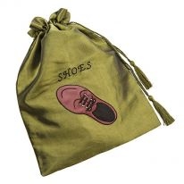 Brown Shoe Drawstring Shoe Bag