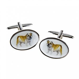 At Home in the Country - Bull Dog Cufflinks