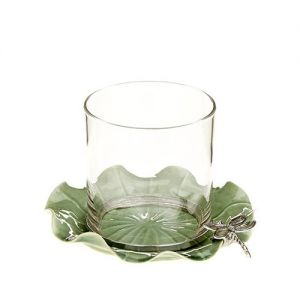 At Home in the Country - Candle Holder with Dragonfly