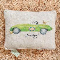 Dashing Jaguar Linen Mix Cushion