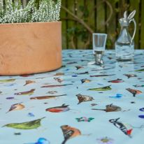 Dawn Chorus Birds Oil Cloth Fabric by the Metre