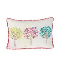 Flower Heads 100% Cotton Cushion