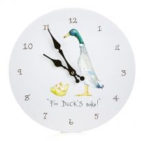"""For Duck's Sake!"" Wall Clock"