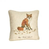 """For Fox Sake!"" Linen Mix Cushion"