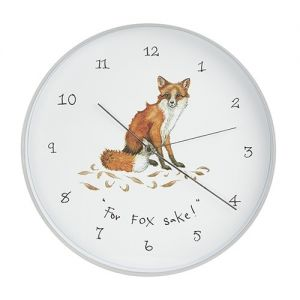 At Home in the Country - For Fox Sake! Wall Clock