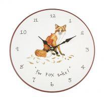 """For Fox Sake!"" Wall Clock"