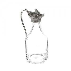 """At Home in the Country - Fox Whisky Water Jug A """"Noggin"""""""