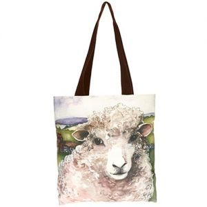 At Home in the Country - Friendly Sheep Bag with Brown Strap