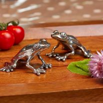 Frog Salt & Pepper Pewter