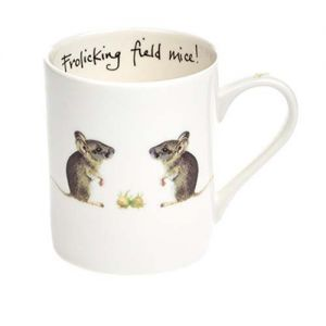 "At Home in the Country - ""Frolicking Field Mice!"" Fine Bone China Mug"