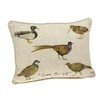 """Game for All"" Linen Mix Cushion"