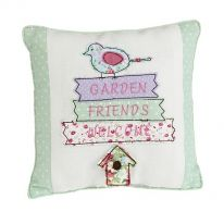Garden Friends Welcome Cushion