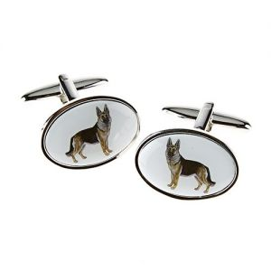 At Home in the Country - German Shepherd Cufflinks