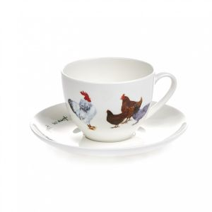 "At Home in the Country - ""Girls Just Want to Have FUN!"" Cup and Saucer"