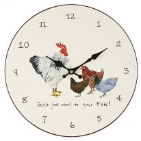 """Girls Just Want to Have FUN!"" Wall Clock"