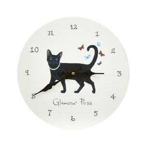 At Home in the Country - Glamour Puss Wall Clock
