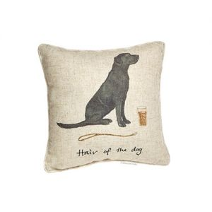 "At Home in the Country - ""Hair of the Dog"" Linen Mix Cushion"