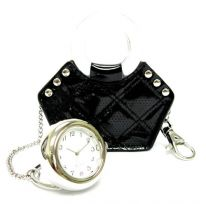Handbag watch - black
