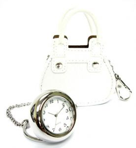 At Home in the Country - Handbag Watch - White
