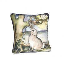 Hare and Moon Cushion