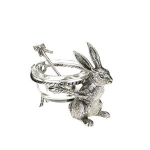 At Home in the Country - Hare Salt Pot and Spoon