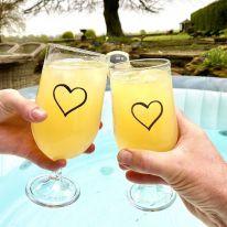 Heart 15 oz Gin/ Pimms/ Beer Goblet